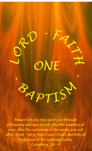 image of One Lord, One Faith, One Baptism Bible Studies